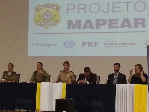 Apresentação dos dados do Projeto Mapear, que analisa pontos de vulnerabilidade à exploração sexual infantil nas rodovias brasileiras (Foto: Raquel Morais/G1)