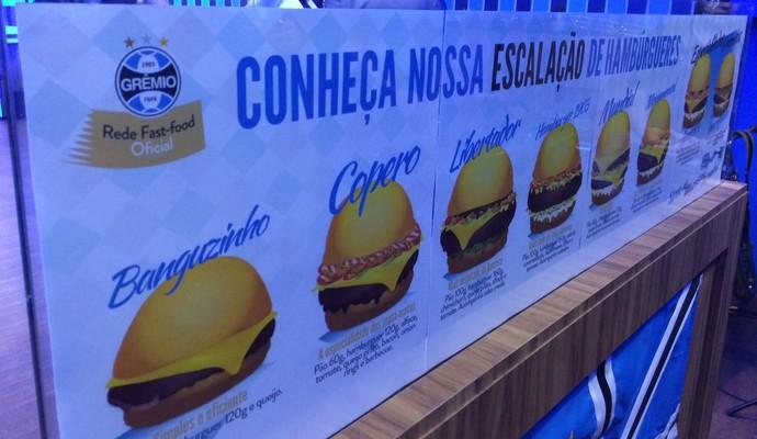 Hamburgueria do Grêmio inaugurada Porto Alegre comida lanche (Foto: Eduardo Deconto/GloboEsporte.com)