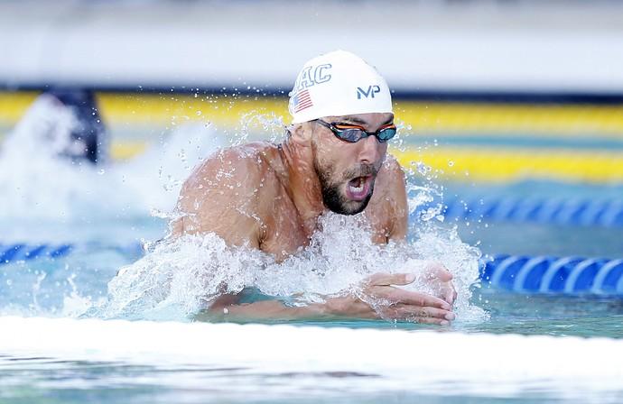 Michael Phelps GP Santa Clara final 200m medley natação (Foto: Reuters)