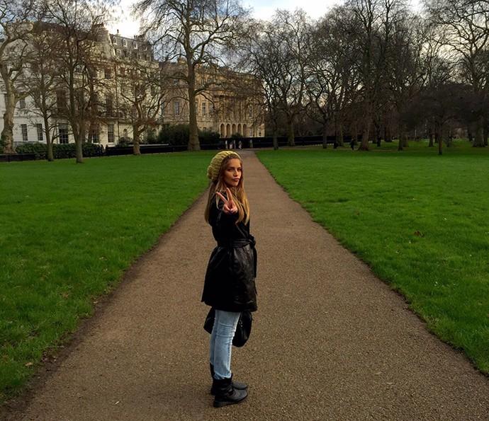 Isabella Santoni viajou para Londres para passar o Ano Novo (Foto: Arquivo pessoal)