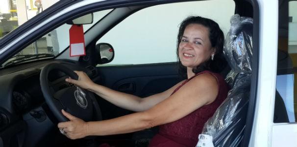 Jaldinete Muniz ganhou um carro zero km (Foto: Divulgação/ Marketing OAM)