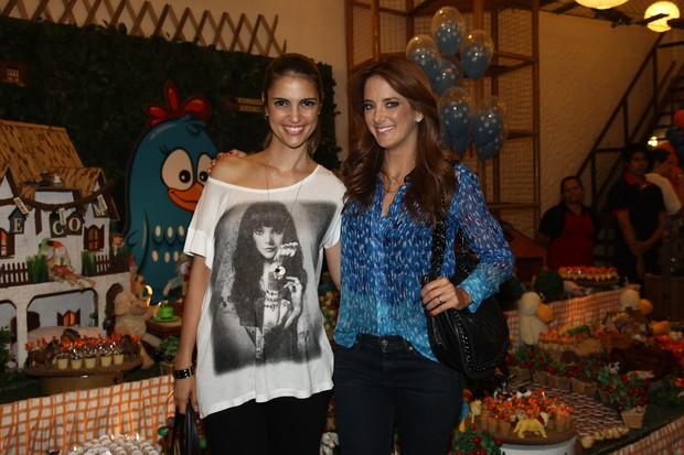 Cris Flores e Ticiane Pinheiro em festa em São Paulo (Foto: Manuela Scarpa/ Foto Rio News)