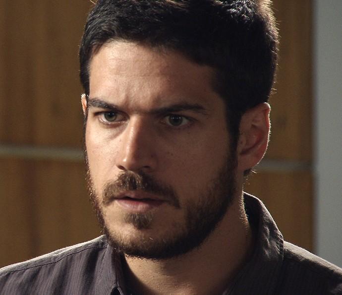 Dante descobre que seu pai está vivo (Foto: TV Globo)