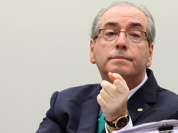 O deputado e presidente afastado da Câmara, Eduardo Cunha, durante depoimento no Conselho de Ética, na Câmara dos Deputados, em brasília (Foto: Adriano Machado/Reuters)