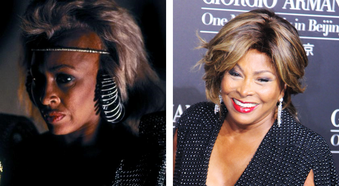 Tina Turner em 1985 e 2015 (Foto: Divulgação)