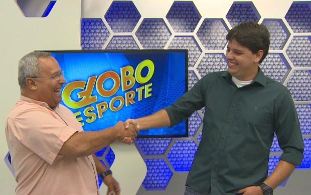 Thiago Guedes assumi a apresentação do Globo Esporte AM no lugar de Dudu Monteiro de Paula (Foto: Jornal do Amazonas)