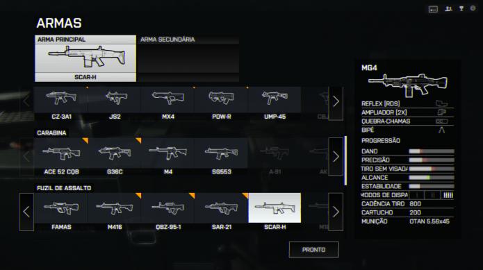 Battlefield 4: treine com as armas do jogo e escolha a que melhor se adapta a sua forma de jogo (Foto: Reprodução/Paulo Vasconcellos)