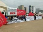 CUT faz manifestação no DF contra governo Temer e reforma trabalhista