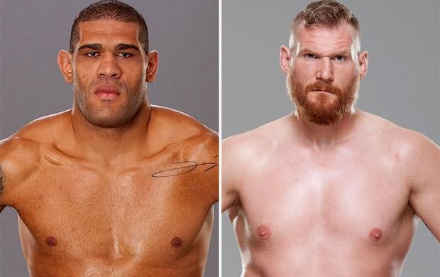 Montagem - Antônio Pezão e Josh Barnett UFC (Foto: Editoria de Arte)