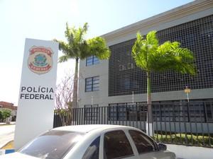 Sede da Polícia Federal (PF) em Alagoas (Foto: Michelle Farias/G1)