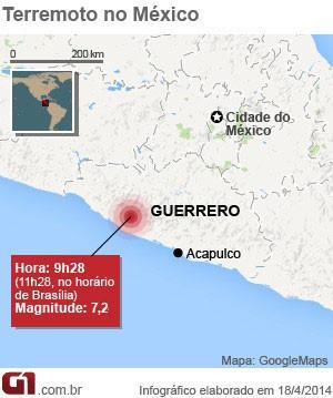 Arte terremoto México 18/04 13h11 (Foto: Editoria de Arte/G1)