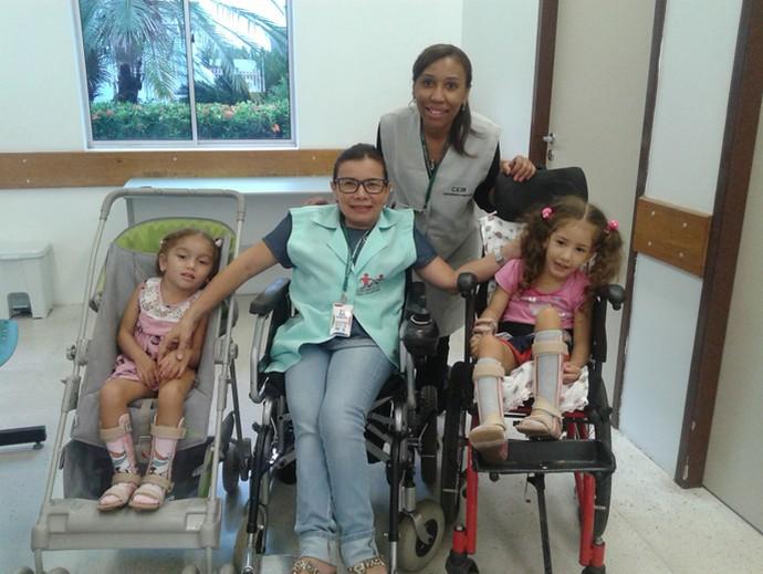 Boa da Semana: Para Gercilene Santo a boa foi encontrar com a Meirilane na Ceir local que ela ama trabalhar (Foto: Arquivo pessoal)