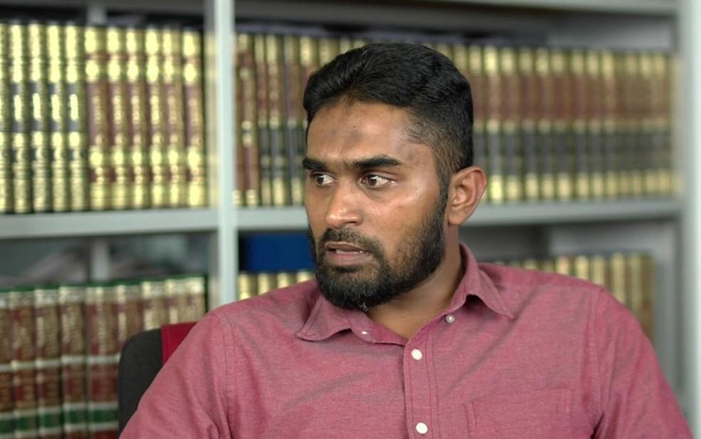 BM Arshad, tesoureiro do grupo Thawheed Jamaath, é contra estabelecer uma idade mínima para o casamento (Foto: BBC)