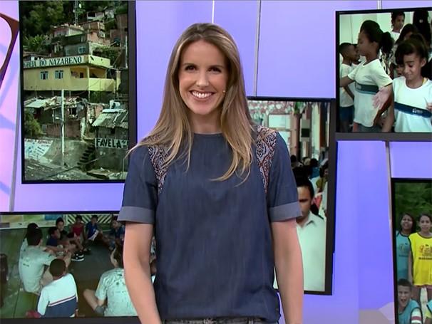 Mariana Ferrão apresenta o Como Será? nas férias de Sandra Annenberg (Foto: Globo)
