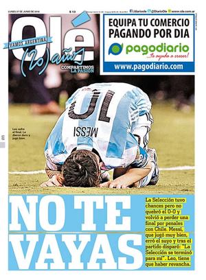 Messi Argentina Capa Olé (Foto: Reprodução)
