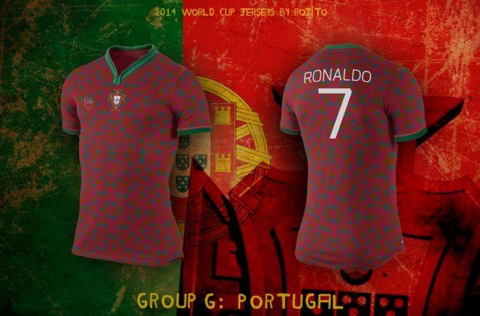 Blog da Copa - design camisa de Portugal