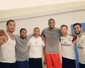 Jogadores do Real Madrid registram encontro com astros da NBA nos EUA