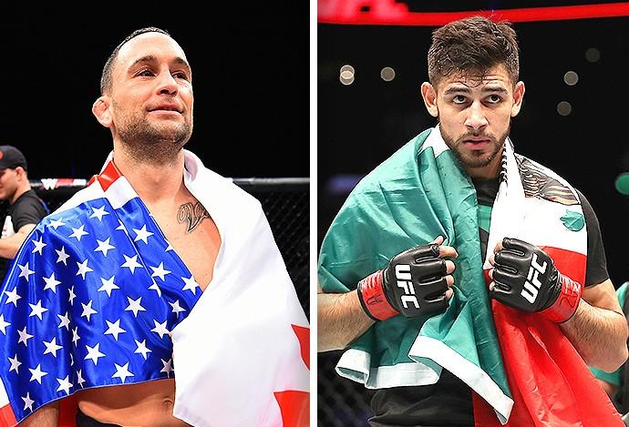 Montagem UFC Frankie Edgar e Yair Rodreguez  (Foto: Editoria de arte)