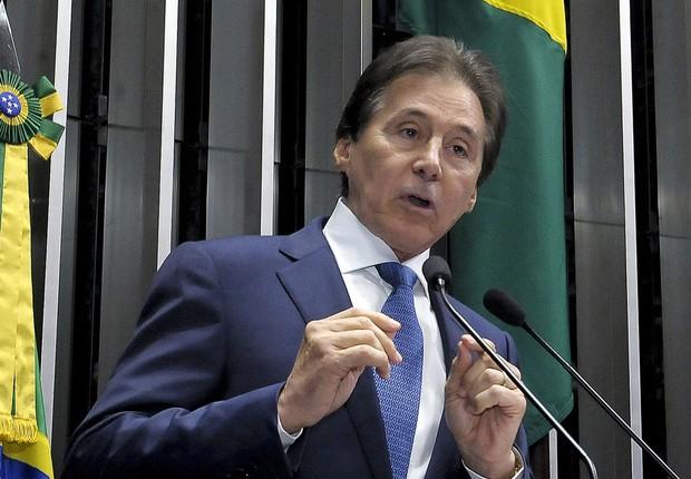 O novo presidente do Senado, o senador Eunício de Oliveira (PMDB-CE) (Foto: Waldemir Barreto/Agência Senado)