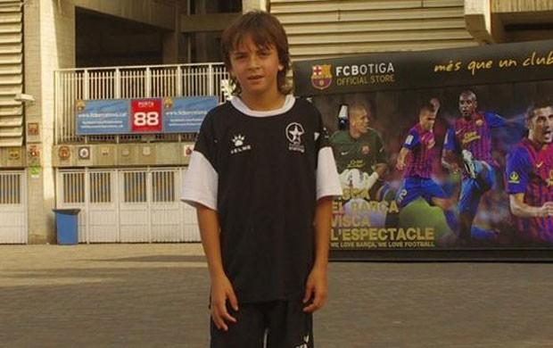 Zak Gilsenan pequeno messi (Foto: Reprodução/Yahoo Deportes)