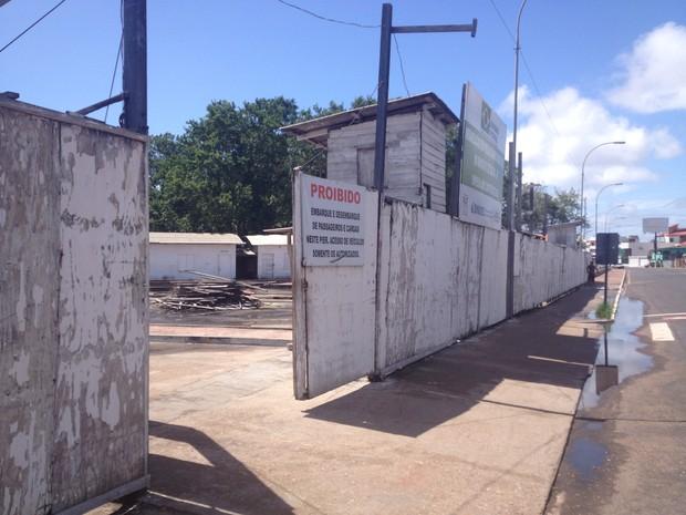 Construção do píer na orla de Macapá foi orçada inicialmente em R$ 6 milhões (Foto: Abinoan Santiago/G1)