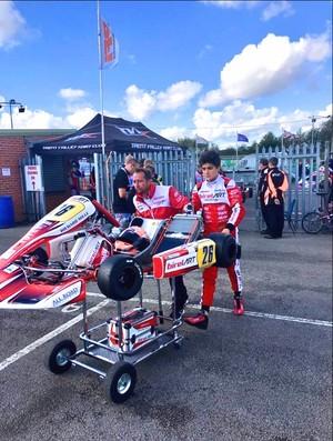 Caio Collet no Mundial de Kart