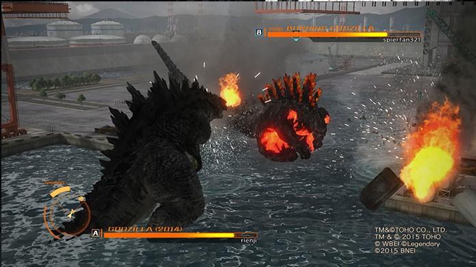 O modo Rei dos Kaijus traz batalhas entre dois monstros (Foto: Reprodução/Felipe Vinha)