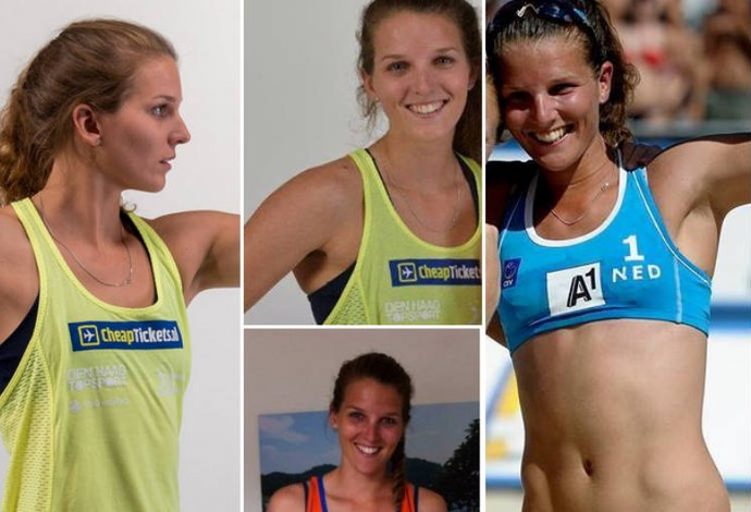 Jolien Sinnema, da Holanda, musas do Mundial de vôlei de praia (Foto: Reprodução)