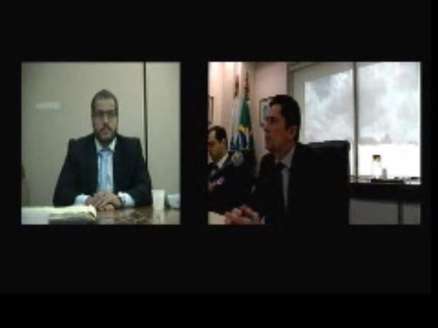 Emerson Granero prestou depoimento à Justiça como testemunha de defesa do presidente do Instituto Lula, Paulo Okamoto (Foto: Reprodução/Justiça Federal do Paraná)
