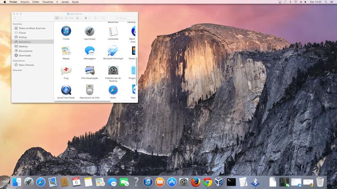 OS X Yosemite: Novo visual, mantendo mesmo padrão (Foto: Reprodução/Edivaldo Brito