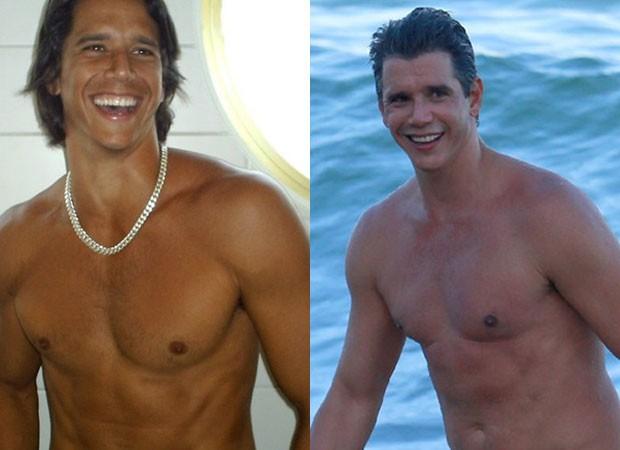Marcio Garcia novinho e hoje, aos 47 (Foto: Reprodução Instagram)