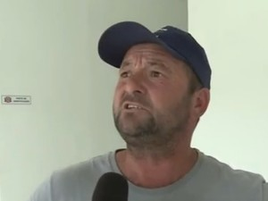 Caminhoneiro conta como foi o acidente em Itariri (Foto: Reprodução/TV Tribuna)