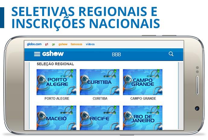 card inscrições nacionais seletivas regionais inscrição (Foto: Daniel Chevrand/Gshow)