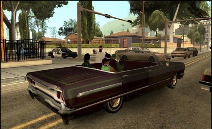 GTA San Andreas também aparece na lista de clássicos disponíveis para o 360 (Foto: Reprodução)