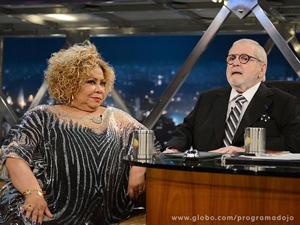 Cantora Alcione participa do Programa do Jô desta sexta-feira (Foto: TV Globo/Programa do Jô)