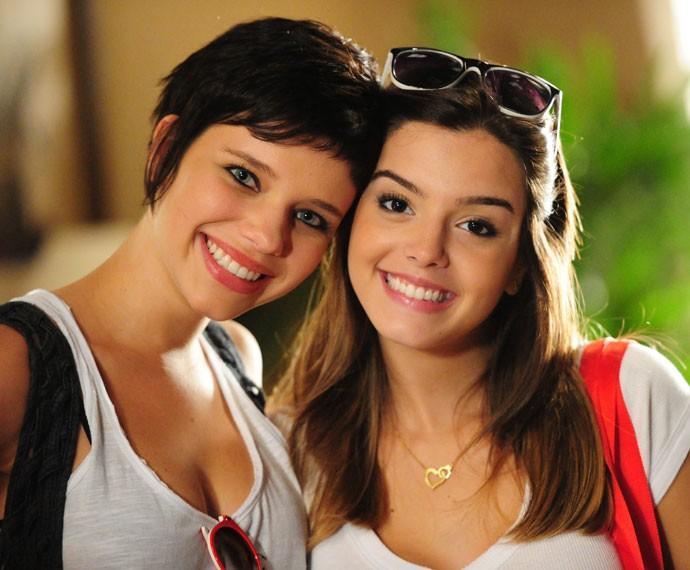 As atrizes estrearam juntas em 'Insensato Coração', como as irmãs Leila e Cecília (Foto: TV Globo / João Miguel Junior)