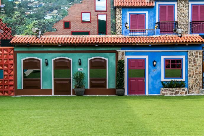 Uma das fachadas da casa do BBB17 (Foto: Paulo Belote/TV Globo)