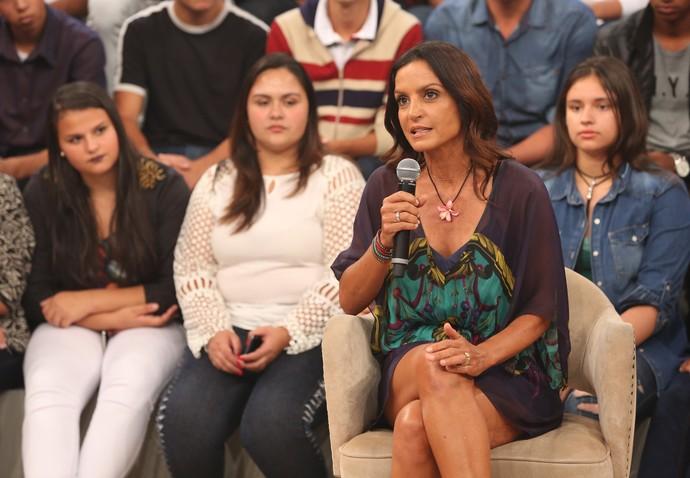 Fernanda Keller no 'Altas Horas' (Foto: Carol Caminha/Gshow)