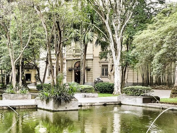 Antiga Casa de Dona Veridiana, onde funciona a sede de São Paulo do Iate Clube de Santos (Foto: Divulgação/Iate Clube de Santos)