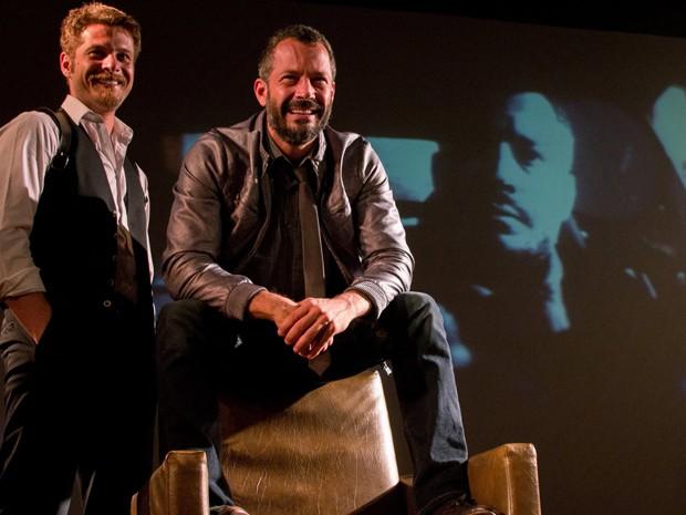 Atores Malvino Salvador e Agusto Zacchi protagonistas do espetáculo (Foto: Evandro Halabey/ Divulgação)