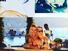 Danielle Winits mostra a boa forma em foto romântica com o marido