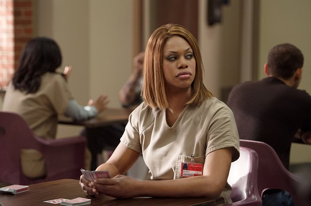 Laverne Cox em cena de 'Orange is the new black' (Foto: Reprodução)