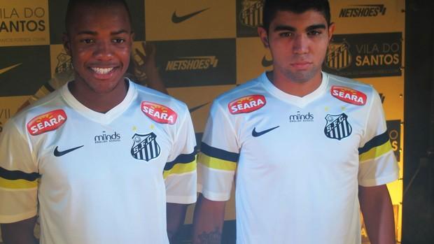 Victor Andrade e Gabigol, atacantes do Santos (Foto: Bruno Gutierrez)