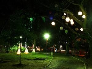 Praça 20 de Setembro receberá os enfeites feitos com garrafas pet (Foto: Divulgação/PMNH)