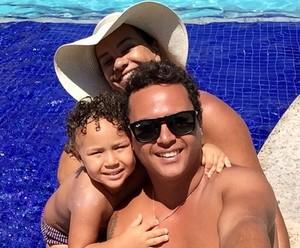Solange Couto com marido e o filho (Foto: Arquivo Pessoal)