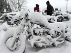 Motos 'congelam' em encontro de motociclistas na Alemanha