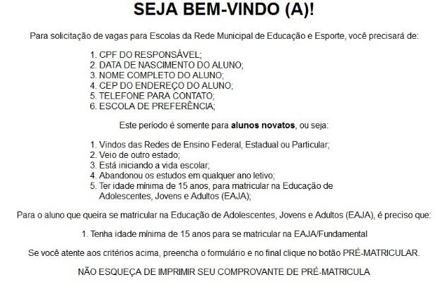 Secretaria inicia período de matrícula para vagas em Cmeis de Goiânia, Goiás (Foto: Reprodução/TV Anhanguera)