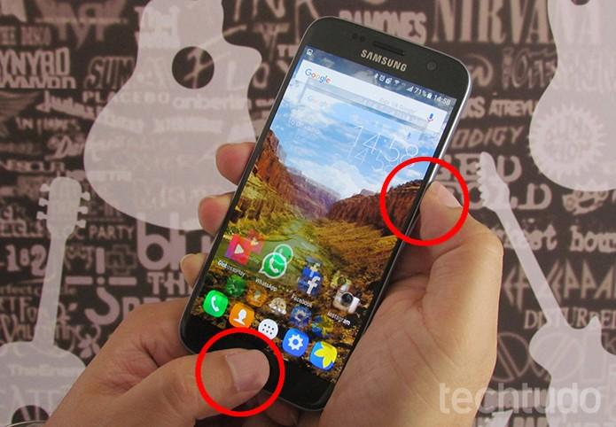 Aprenda a tirar print de tela do Galaxy S7 (Foto: Paulo Alves/TechTudo)
