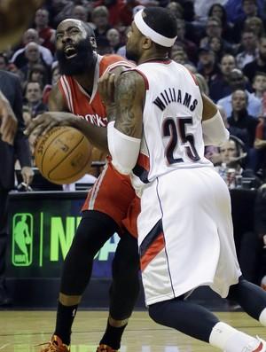 James Harden, Rockets x Blazers - AP (Foto: AP)
