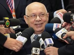 O ministro Teori Zavascki durante entrevista no STJ (Foto: Nelson Jr. / STF)